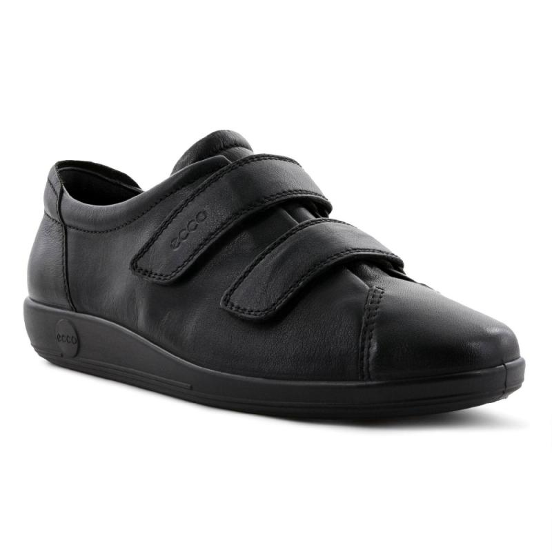 ECCO Soft 2.0 Black Feather med Svart Sula